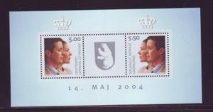 Greenland Sc 430a 2004 Royal Wedding stamp sheet mint NH