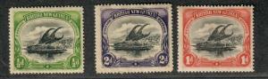 Papua New Guinea Sc#1-3 M/H/VF, Partial Set, Cv. $48.50