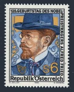 Austria 1484,MNH.Michel 1976. Alfred Fried,1911 Nobel Laureate.1989.