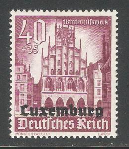 Luxembourg 1941,German Occupation Semi Postal,Sc NB9,VF MLH*OG