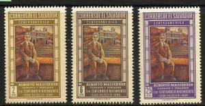 El Salvador 1968 Scott# 785-787 MNH