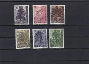 LIECHTENSTEIN TREES AND BUSHES MOUNTED MINT STAMPS CAT £70+  REF 6830