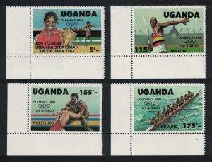 Uganda Rowing Wrestling Olympic Games Los Angeles 4v Bottom Left Corners