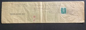 1940s  Tokyo Japan Wrapper Printed Matter Cover