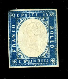 Italy #22 MINT F-VF No gum Sm corner Thin Cat $80