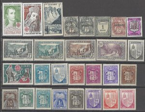 COLLECTION LOT # 3167 ANDORRA 28 MOSTLY MH STAMPS 1931+ CV+$28