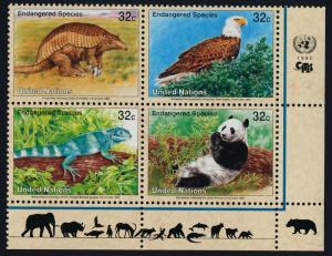 United Nations - New York 660a BR Block MNH Armadillo, Eagle, Iguana, Panda