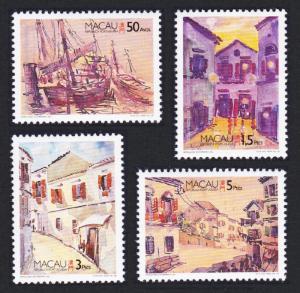 Macao Macau Paintings by Herculano Estorninho 4v SG#925-928 SC#812-815