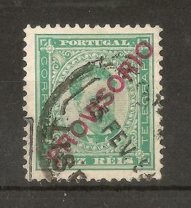 Portugal 1892 10R Provisorio SG285 Fine Used