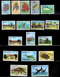 BARBUDA Scott 170-186 MNH** short set 17/18
