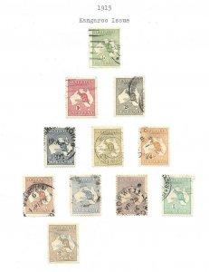 Australia #1 thru #11 Excellent Stamps CV $390 ++