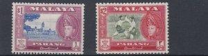 PAHANG    1957 - 62     S G 84 + 85     $1 &  $2    VALUES  MH