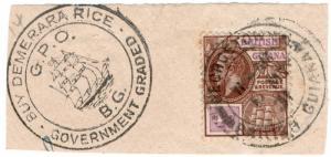 (I.B) British Guiana Postal : 4c with Cachet Postmark