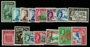 FIJI SG280/95 1954-9 DEFINITIVE SET MTD MINT