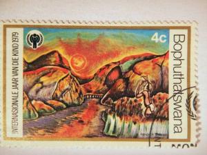 BOPHUTHATSWANA, 1979 4c CTO, International Year of the Child. Children's Draw...