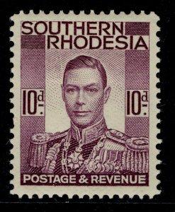 SOUTHERN RHODESIA GVI SG47, 10d purple, M MINT.