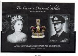 Jersey Sc 1570 2012 Diamond Jubilee QE II stamp sheet used