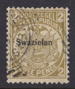 SWAZILAND 1889 Transvaal Arms 2d ERROR SWAZIELAN