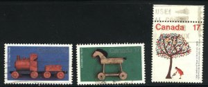 Can #839-40,842   -3    used VF 1979 PD