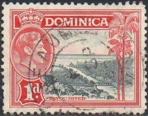 Dominica 1938 1d Layou River used
