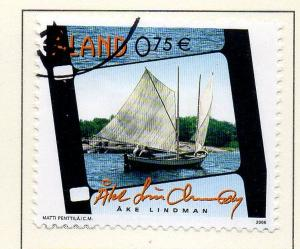 Aland Finland Sc  251 2006 Fishing Ship stamp  used