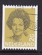 Netherlands  #635    cancelled  1982  Beatrix  coil stamp 2g