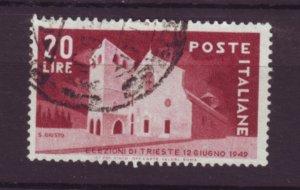 J22633 Jlstamps 1949 italy set of 1 used #521 basilica