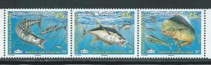 New Caledonia 1088 2010 Fish strip MNH