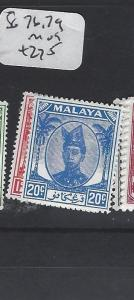 MALAYA TRENGGANU  (PP2303B)  SULTAN  12C, 20C  SG 76, 79   MOG