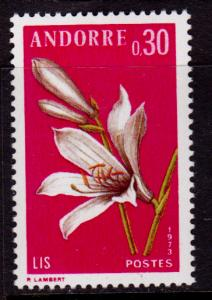 French Andorra 222 MNH - Flowers (1973)