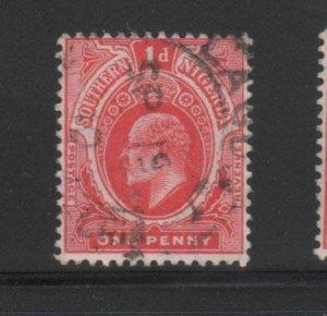 SOUTHERN NIGERIA #44  1910  1p  KING EDWARD VII       F-VF USED  a