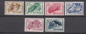 J27611 1952 yugoslavia-trieste set mh #42-7 sports