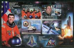 ST. VINCENT GRENADINES COLUMBIA SPACE SHUTTLE STS 107 SHEET MINT NH