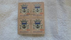 BLOCK OF 4 STAMPS MOCAMBIQUE CTO. MNH.