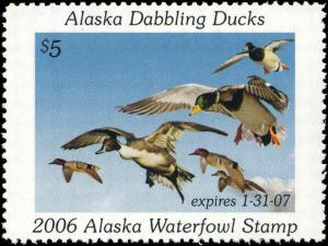 ALASKA #22 2006 STATE DUCK PINTAIL, MALLARD, TEAL by Robert Steiner