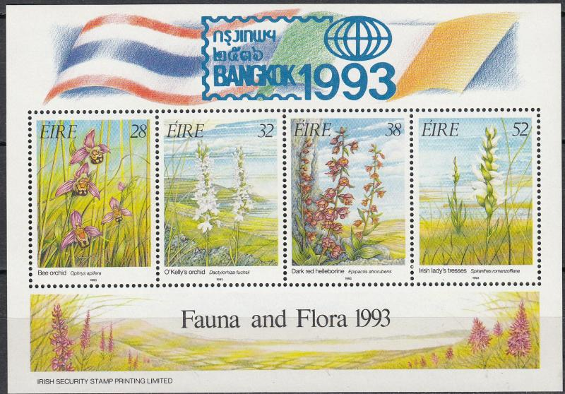 Ireland - 1993 Orchids S/S Sc# 894a - MNH - (342)