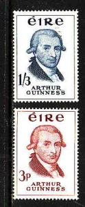 Ireland-Sc#171-72-unused light hinge set-Arthur Guinness-1959-