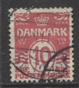 Denmark - Scott 62 - Definitive Issue -1912 - Used - Single 10o Stamp