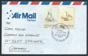 AUSTRALIA 1992 cover to Germany - nice franking - Sydney pictorial pmk.....12820