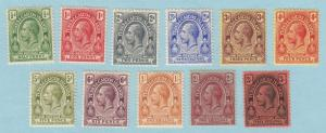 TURKS & CAICOS 25-35 COMPLETE SET MINT HINGED OG NO FAULTS EXTRA FINE