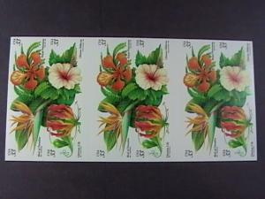 U.S.# 3310-3313(3313b)-MINT/NH-BOOKLET PANE OF 20--TROPICAL FLOWERS--1999