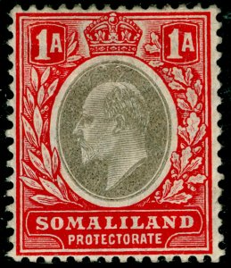 SOMALILAND PROTECTORATE SG46, 1a grey-black & red, M MINT. Cat £27.