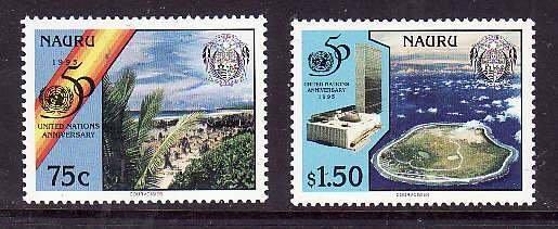Nauru-Sc#428-9-UnusedNH set-United Nations-1995-