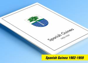 COLOR PRINTED SPANISH GUINEA 1902-1959 STAMP ALBUM PAGES (30 illustrated pages)