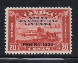 Canada Sc  203 1933 Regina Grain Exhibition stamp mint