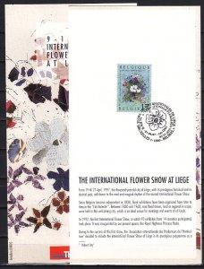 Belgium, Scott cat. 1647. Int`l Flower Show. First day Postal Bulletin.. ^