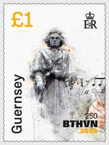 2020 Guernsey Beethoven (3) (Scott NA) MNH