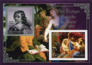 EUSTACHE LE SUEUR Erotic Art Silver s/s Perforated Mint (NH)