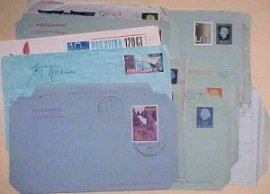 NETHERLANDS   AIR LETTERS 18 DIFF.