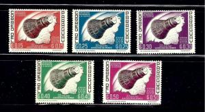 Paraguay 775-79 MH 1963 partial set; space capsule